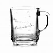 Glühweingläser Hüttenzauber 0,2l Henkelbecher 12 Punsch Gläser m. Henkel Glühweinbecher