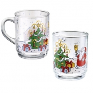 Glühweingläser mit Henkel Christmas 24er Set Glühweinbecher 0,2l