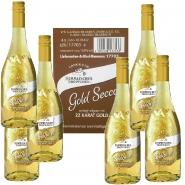 GoldSecco 22 Karat Blattgold 6 x 0,75 l Karton 10,5 % vol.