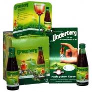 Greenberg mit Blütenhonig Kräuterlikör Underberg 12 x 40 ml Portinsflaschen 22% vol.