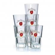 Jim Beam 6 Exklusiv Gläser Whisky Glas 30cl Tumbler