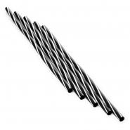 Jumbo Strohhalme Trinkhalme Twist S -  W 25cm 500Stk