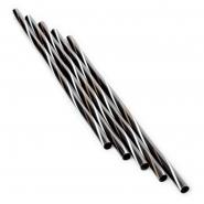 Jumbo Strohhalme Trinkhalme Twist S - W - G 25cm 500Stk