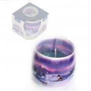 Duftkerze Winter Windlicht im Glas Teelichte