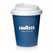 Lavazza to go Papp-Becher 270cc Kaffeebecher mi Deckel weiß 50 Stk