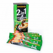 MASSIMO 2in1 Kaffee mit Kaffeeweißer 10 Sticks á 14g