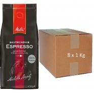 Melitta Gastronomie Espresso 100% Arabica 8 x 1Kg ganze Bohne