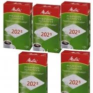 Melitta Pyramiden Filterpapier Filtertütten 202 S, 500 Stk, Kaffee-Filter M 170 MT