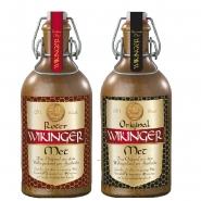 Original Wikinger Met Tonflaschen 2 x 0,5l Honigwein hell/rot