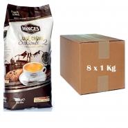 8 x Minges Schümli 2 Creme Arabica 1 Kg Kaffee ganze Bohnen