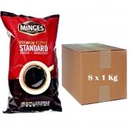 Minges Premium Kaffee Standard Würzig - Aromatisch gemahlen 8 x 1Kg