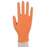 100 Nitril Handschuhe Puderfrei Einweg XS-XL Orange
