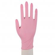 100 Nitril Einmalhandschuhe Puderfrei Größen XS-XL Pink