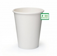 Pappbecher Kompostierbar bedrucken BIO Individuelles Design 1000 Becher 24cl / 8oz