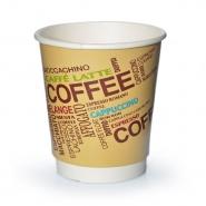 Doppelwandige Pappbecher 36cl Einwegbecher 0,3l Coffee Design 25 Stk.