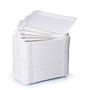 Pappteller eckig 10,5 x 16,5 cm, weiß 250 Pommes-Schalen