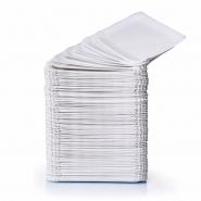 Pappteller eckig 13 x 20 cm, weiß 250 Wurst-Teller