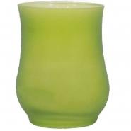 Partyglas Kerze Kiwi 97x128mm Tulpenkerze Brenndauer 40h