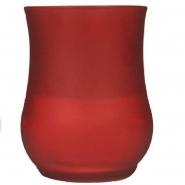 Partyglas Kerze Rot 97x128mm Tulpenkerze Brenndauer 40h