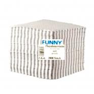 Piccoloservietten weiß gezackt 17 x 17 cm, 2000er Pack