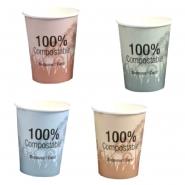PLA Kaffeebecher Kompostierbar 36cl Pappbecher mehrfarbig 1000 Stk.