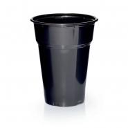 1000 Plastikbecher Trinkbecher Ausschankbecher 0,3l Schwarz