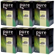 6 x Pure Tea Selection Grüner Tee mit Lemonmyrte 25 Portionen