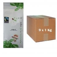 Puro Fairtrade Noble - Karton 9 x 1Kg ganze Bohne