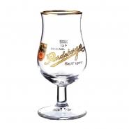 Radeberger Bitter seit 1877 Glas, Kelch mit Goldrand 4cl