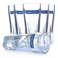 6 x Ramazzotti Designer Gläser Logo Blau