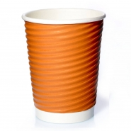Ripple Cups Beige 14oz Doppelwand 50 Coffee to go Becher