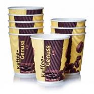 Ripple Cups Pappbecher 8oz Kaffeebecher 0,2l Kaffeegenuss 1000 Stk