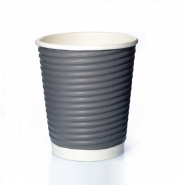 50 Ripple Cups grau 0,2 l Doppelwand Coffee to go Becher