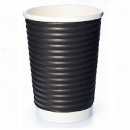 Ripple Cups Schwarz 14oz Doppelwand 50 Coffee to go Becher