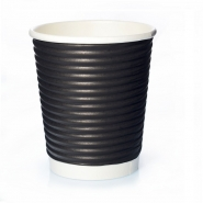 Ripple Cups Schwarz 8oz Doppelwand 50 Coffee to go Becher