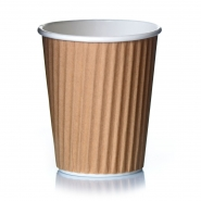 Ripple Cups Beige 14oz Doppelwand Draf 50 Coffee to go Becher