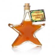 Sanddornlikör Weihnachtsstern 0,2 l Schmuckflasche 17% vol.