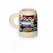 Schnaps Becher Maßkrug mit Henkel Keramik ca 4 cl
