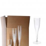 Sektgläser 0,1 l Champagnergläser 10 cl, 2-teilig mit Fuß einweg 12 Stk,