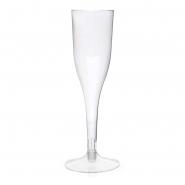 Sektgläser Champagner-gläser 0,1 l klar, PS Einweg, 2-teilig, 12 Sektflöten