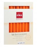 Eika Spitzkerzen Orange 50er Pack Leuchtkerzen 245 x 24mm