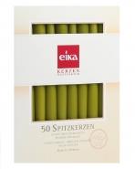 Eika Spitzkerzen Pistazie 50er Pack Leuchtkerzen 245 x 24mm