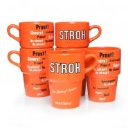 Stroh-Tassen 6 originale Glühwein 0,25 l - Rumtassen zu Weihnachten Original