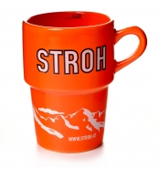 Stroh Tasse Orange originale Rum Becher 0,25 l