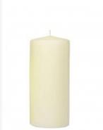 Stumpenkerze Elfenbein 20 x7cm, Kerze für Laterne