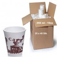 Styroporbecher Thermobecher 250 ml New Cafe 1.000 Stk.