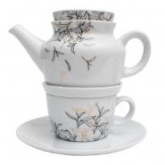 Dallmayr Teeservice Porzellan 21 Teilig Dekor Teeblatt