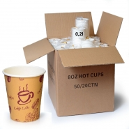 Coffee to go Becher 0,2l Pappbecher Funny 1000 Stk.