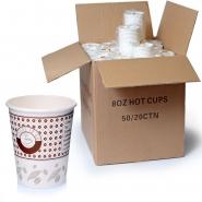 Coffee to go Papp - Becher 0,2l Kaffeetasse 1.000 Stk, 200ml / 8oz