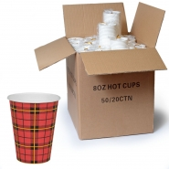 Coffee to go Papp - Becher 0,2l Scotty 1000 Stk, 200ml / 8oz